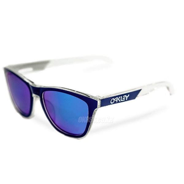 오클리 선글라스 프로그스킨 프리즘 편광 아시안핏 OO9245-8454 OO9245-84 OAKLEY ASIAN FROGSKINS POLISHED CLEAR/PRIZM SAPPHIRE POLARIZED